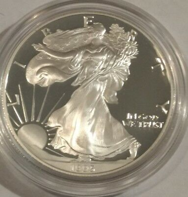 1995-P PROOF American Silver Eagle. Brilliant BU ASE in its original capsule.