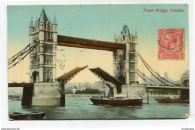 CPA-Carte postale Royaume-Uni - London - Tower Bridge 1914 (CP3249)
