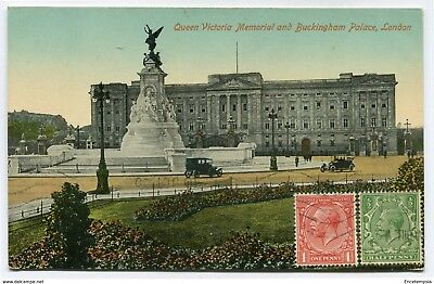 CPA-Carte postale Royaume-Uni - London - Queen Victoria Memorial and Buckingham