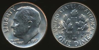 United States, 1967 Dime, Roosevelt - Uncirculated