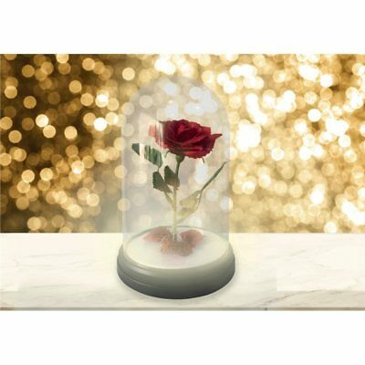 Lampe De Table Rose Eternelle La Bete Et La Belle Disney Eur 30