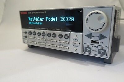 Keythley 2602A Dual-channel System SourceMeter Instrument (3A DC, 10A Pulse)