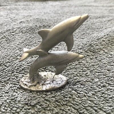 """dolphin pewter 1 3/4"""" by 1 3/4"""" used spooniiques. pp244 is on the bottom."""