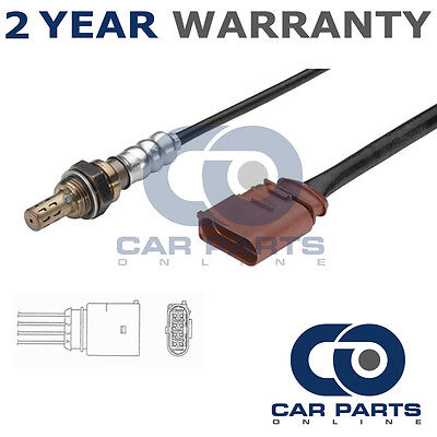 For Audi A3 1.6 (2000-03) 4 Wire Rear Lambda Oxygen Sensor Direct Fit O2 Exhaust