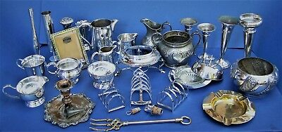 Vintage English Silver Plated Job Lot, Mappin & Webb, Viners, JBC&S, Purcell