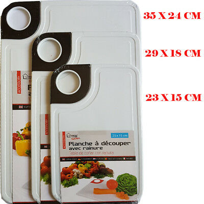 Quality Plastic Large-Medium-small Chopping Board Kitchen Worktop Cutting White