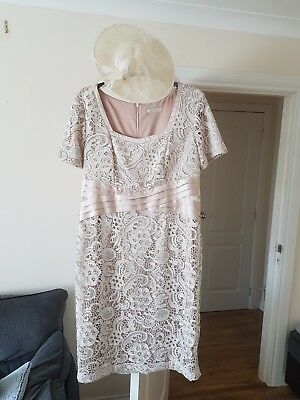 Berkertex special occasion dress/mother of the bride/ champagne/beige/size 18