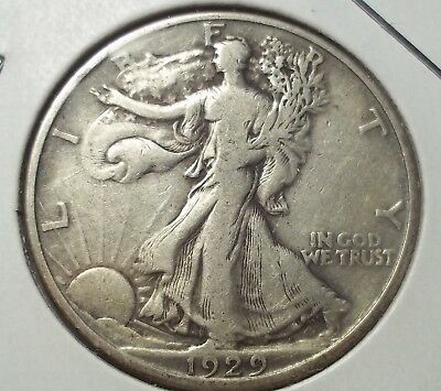 1929-D Walking Liberty silver Half Dollar