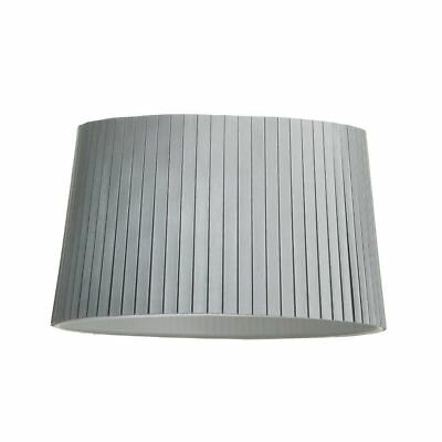 Silver Pleated Cylinder 13 inch Easy Fit Light Lamp Shade Lampshade Litecraft