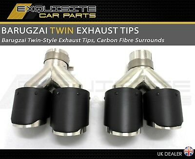 Barugzai Design Exhaust Tips Twin Style  Performance Carbon Fibre