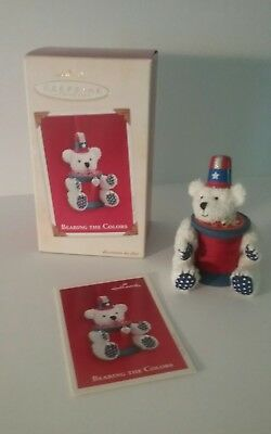 "Hallmark patriotic  Keepsake Ornament ""Bearing the colors"" New in box 2003"