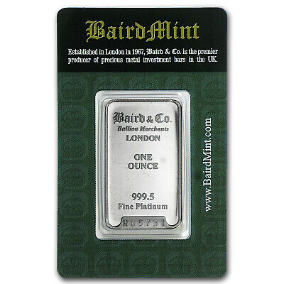 1 oz Platinum Bar - Baird & Co. (In Assay) - SKU #66150