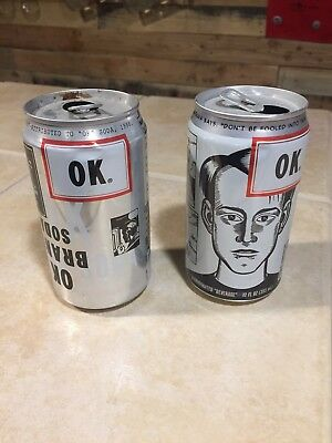 OK Soda Cans (2) 1994 Failed Coke Cola Product, extreme RARE  Very 1990s!!