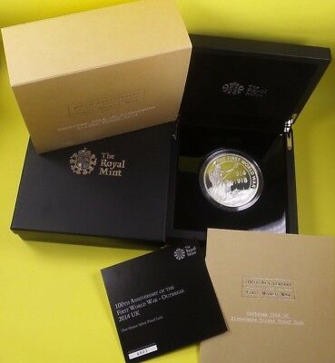 2014 Royal Mint 999 Silver Proof £10 Coin 5 Oz Outbreak Of Wwi Collection Cased