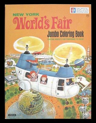 OFFICIAL NEW YORK WORLD's FAIR - JUMBO COLORING BOOK - 1964-1965 - SPERTUS PUBL.