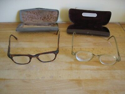 Two Pairs of Vintage Retro Glasses Spectacles with Cases