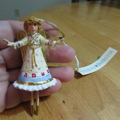 "NIB Dept 56 PATIENCE BREWSTER  HEAVENLY ANGEL Mini Ornament  3.5"" Tall"