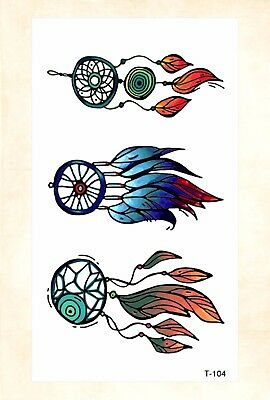 US Seller- large fake tattoos Indian native dream catcher temporary tattoo