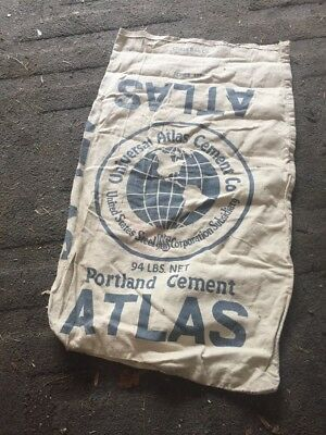 Vintage Advertising Atlas Portland Cement Bag US Steel