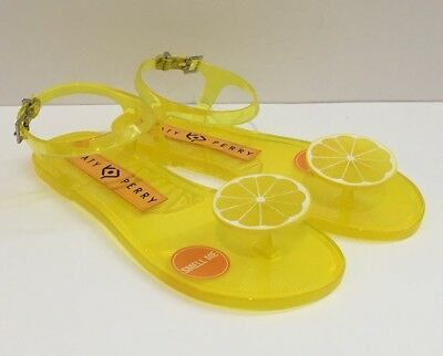 b01730c25592 New Women s Katy Perry The Geli Lemon Scent Fruit Jelly Sandals Smell Me  Size 5