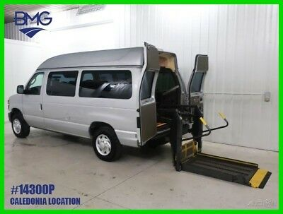 Ford E-Series Van Handicap Passenger Wheelchair Braun Van Commercial One Owner High Roof Silver Serviced 4.6L V8 Highroof Hightop Handicapped Wheel chair