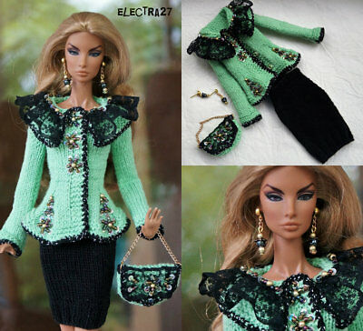 """OOAK Outfit for Fashion Royalty FR2 Color Infusion Nu Face Poppy Barbie doll 12"""""""