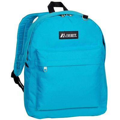 Everest Classic Basic Student Backpack Bag Authentic New Tuuquoise