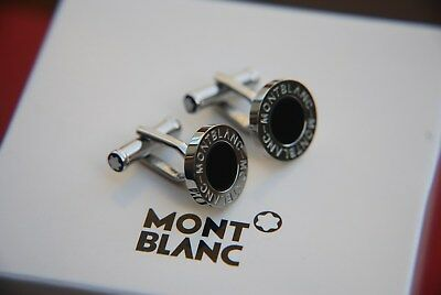 Montblanc Iconic Collection Stainless Steeel & Onyx Cufflinks
