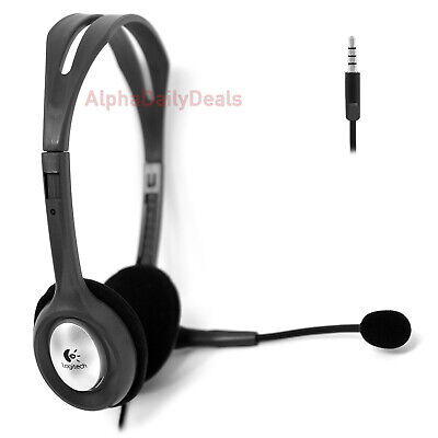 Logitech H111 Stereo Headset 3.5mm with Rotating Microphone & Noise Cancellation