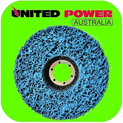 10 x 125mm x 22mm POLY STRIP DISC WHEEL PAINT RUST REMOVAL CLEAN GRINDER.