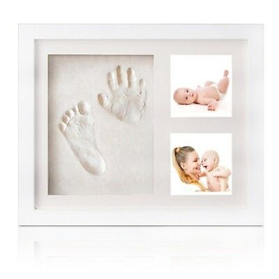 Baby Handprint Kit Picture Frames - Baby Clay Handprint & Footprint Photo Frame