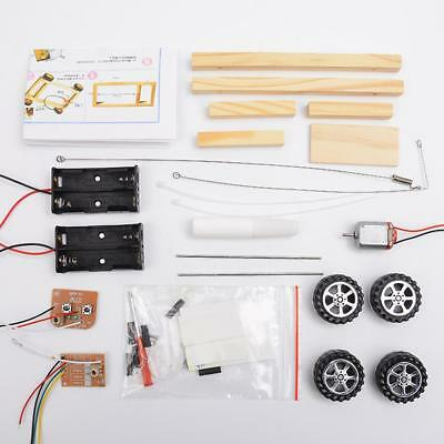 Handcraft DIY Component Kit Four-wheel Remote Control Car Assembled Model Toy