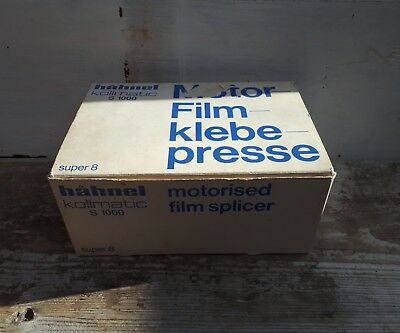 hahnel kollmatic s1000 motorised film splicer Used super 8 Boxed V Good Con