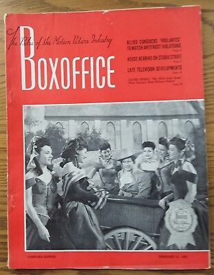 Vintage February 21,1948 BOXOFFICE Magazine  Canadian Edition