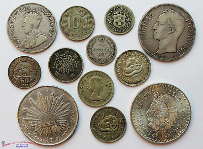 Group Of Silver Crowns And Minors. Mexico, S. Africa, Venezuela, Japan And More.