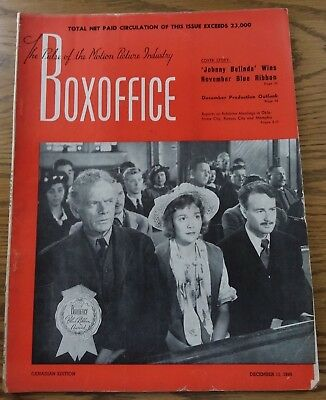 Vintage December 11,1948 BOXOFFICE Magazine  Canadian Edition