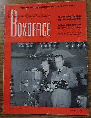 Vintage January 22,1949 BOXOFFICE Magazine  Canadian Edition