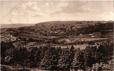 Glaisdale from Limber Hill, N. Yorkshire, old postcard, posted 1929