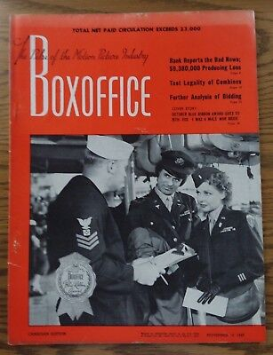 Vintage November 12,1949 BOXOFFICE Magazine  Canadian Edition