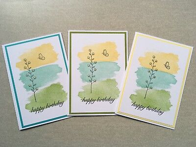 Three Handmade Female Birthday Cards | Stampin Up | Flower & Butterfly