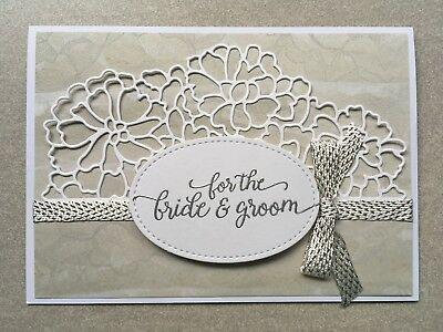Handmade Wedding Card | Stampin Up | Silver & White