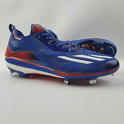 Adidas Boost Icon 2.0 Metal Baseball Cleats Men s Size 14 Kris Bryant Red  Blue aeac3cf90