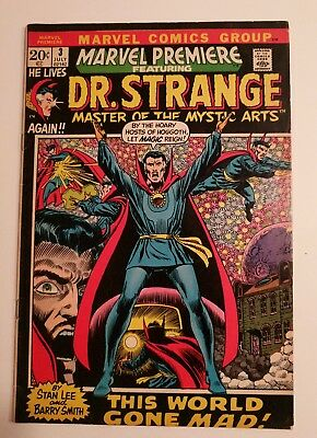Marvel Premiere Feat. Dr Strange #3 - Bronze Age July 1972 - NO RESERVE AUCTION
