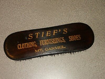 RARE Vintage Advertising Shoe Brush STIEF'S Clothing Furnishings Mt. Carmel, PA