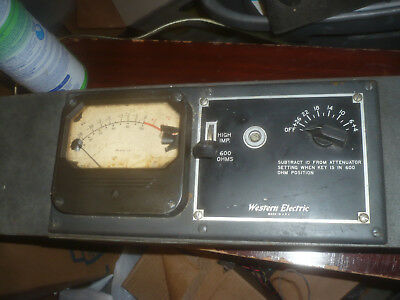 Western Electric Vintage Attenuator 600 OHMS. Untested As Found
