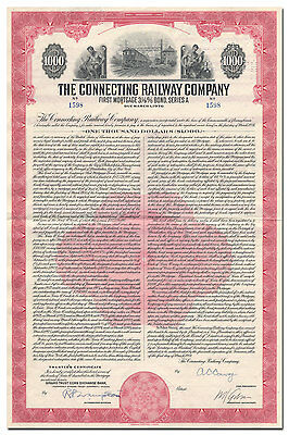 Connecting Railway Company Bond Certificate