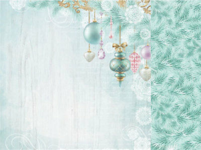 "*A&B*KAISERCRAFT 12""x12"" Scrapbooking Paper - Christmas Wish - P2142 - Bauble Ga"
