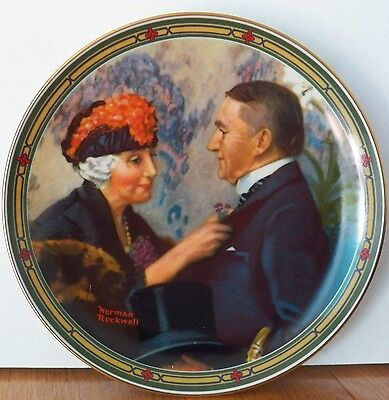 "Collectible Norman Rockwell Plate ""loves Reward"" 50Th Anniversary No. 84-R70-7.8"