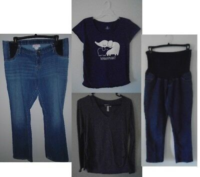 Maternity LOT of 4 casual items - Jeans and shirts sizes 1x and 2x