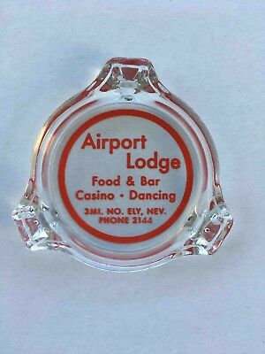 RARE Vintage Airport Lodge Ely Nevada Casino Advertising Ashtray MINT